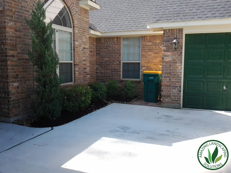 Driveway landscaping in Katy, TX