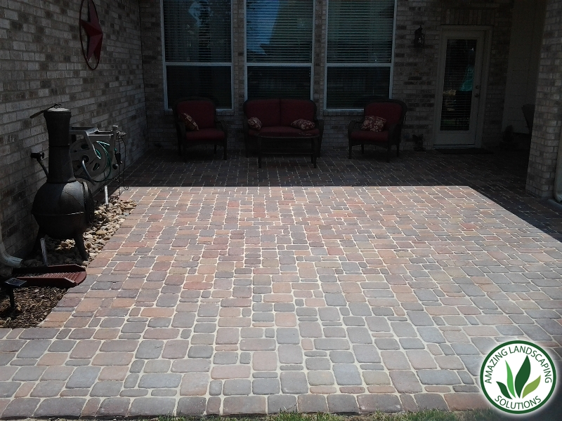 stone bricked patio in Irving, TX