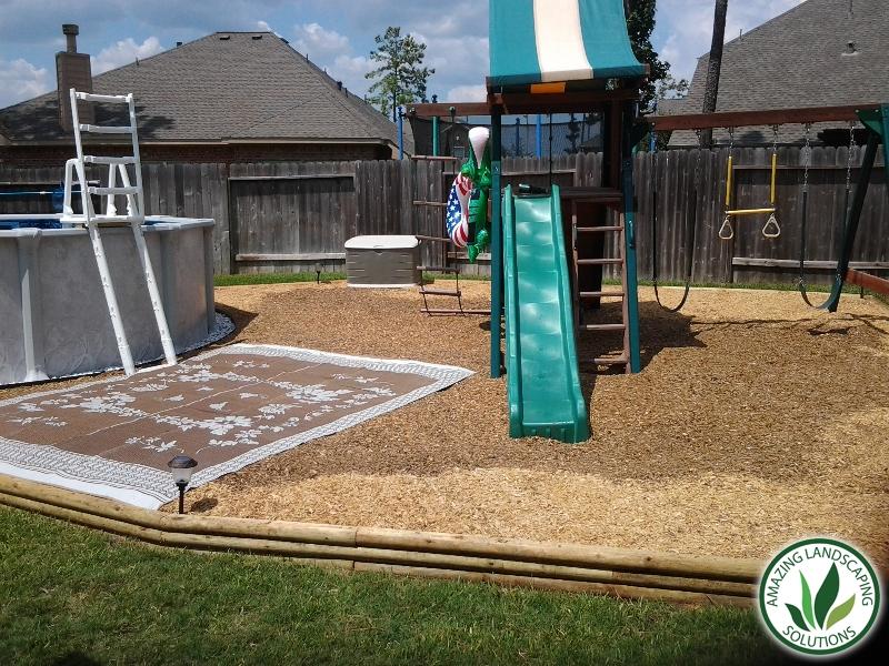 backyard playground landscape