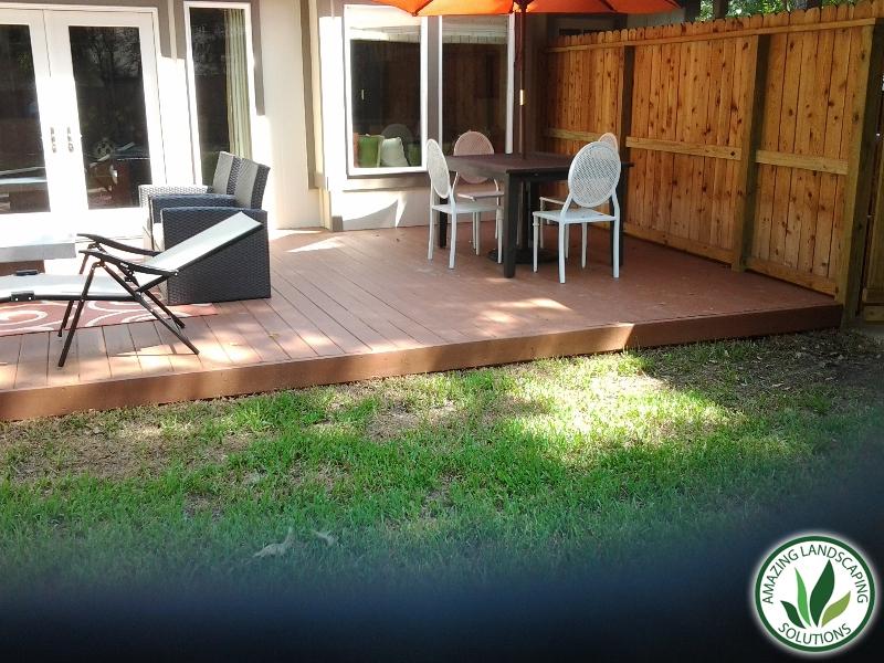 wooden floor patio landscape