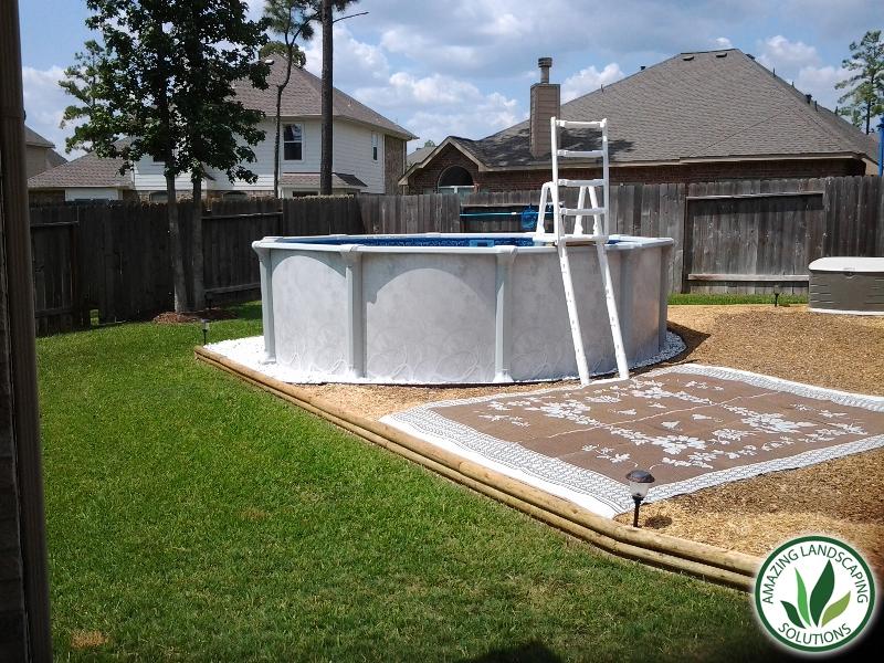backyard DIY pool landscape