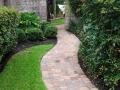 landscaping path through grass Houston