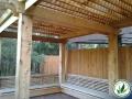 Simple wooden patio