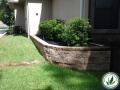stone bricked garden edging landscape