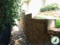 stone brick stair edging landscape