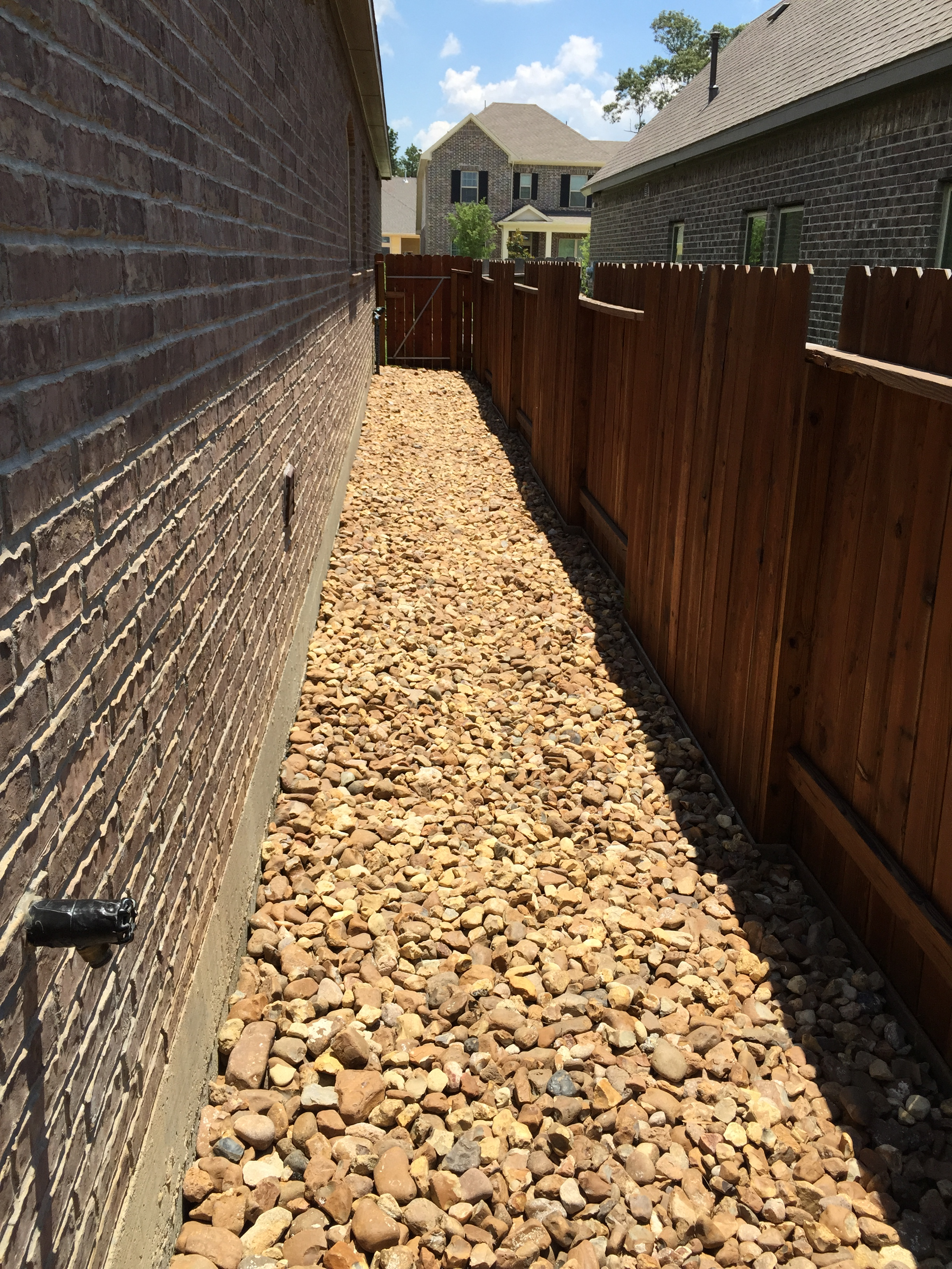 Pavestone Patio, Drainage, Pathway, Flower Bed, And Landscape Lighting