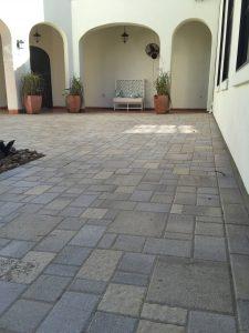 Stone brick patio in Montgomery, TX