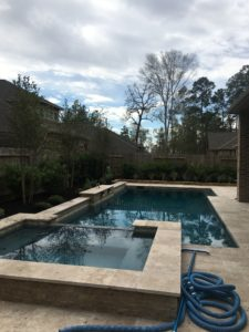 Backyard pool in the Woodlands, TX