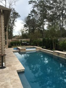 Pool deck and grill station in the Woodlands, TX