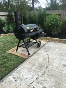 pool deck and Grilling station in the Woodlands, TX